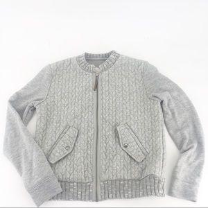 Anthropologie Saturday Sunday zip up knit sweater